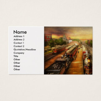Train Station - The romance of the rails 1908 Business Card