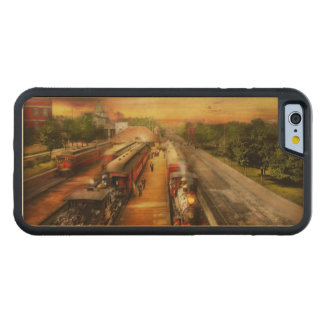 Train Station - The romance of the rails 1908 Carved Maple iPhone 6 Bumper Case