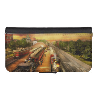 Train Station - The romance of the rails 1908 iPhone SE/5/5s Wallet Case