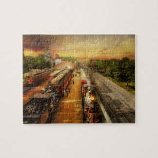 Train Station - The romance of the rails 1908 Jigsaw Puzzle