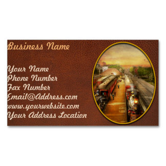 Train Station - The romance of the rails 1908 Magnetic Business Card