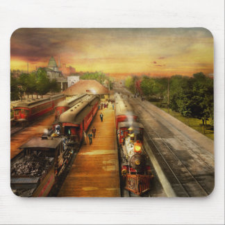 Train Station - The romance of the rails 1908 Mouse Pad