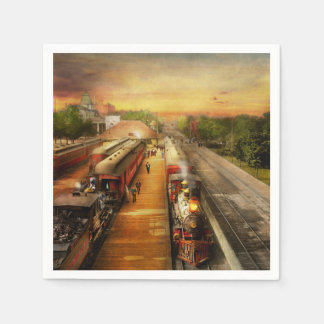 Train Station - The romance of the rails 1908 Napkin