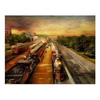 Train Station - The romance of the rails 1908 Postcard