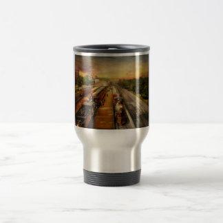 Train Station - The romance of the rails 1908 Travel Mug