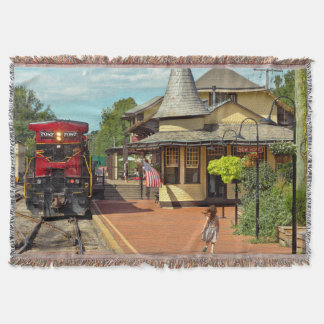 Train Station - There will always be hope Throw Blanket