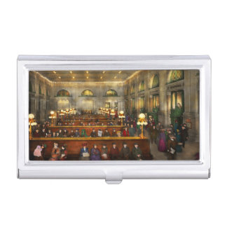 Train Station - Waiting in Grand Central 1904 Business Card Case