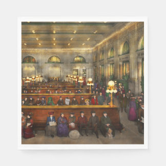 Train Station - Waiting in Grand Central 1904 Paper Napkins