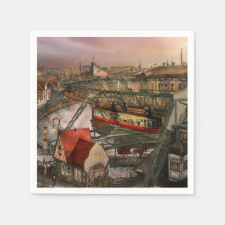Train Station - Wuppertal Suspension Railway 1913 Disposable Napkins