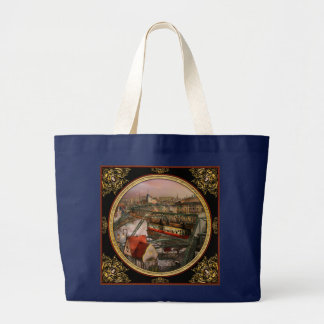 Train Station - Wuppertal Suspension Railway 1913 Large Tote Bag