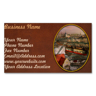Train Station - Wuppertal Suspension Railway 1913 Magnetic Business Card