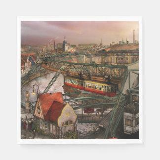 Train Station - Wuppertal Suspension Railway 1913 Paper Napkins