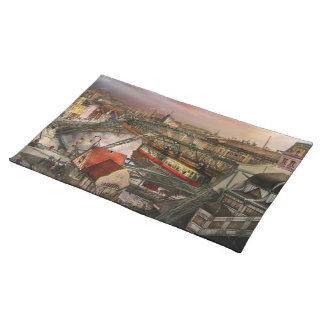 Train Station - Wuppertal Suspension Railway 1913 Placemat