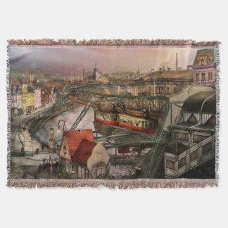 Train Station - Wuppertal Suspension Railway 1913 Throw Blanket