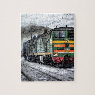 Train Steam Railroad Steampunk Engine Destiny Jigsaw Puzzle