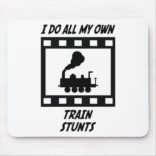 Train Stunts Mouse Mat