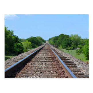 Train Track Postcard