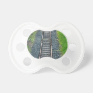 Train Track Railway in Nature, Landscape Baby Pacifier