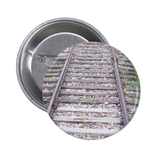 Train Tracks 2 Inch Round Button