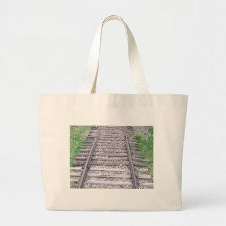 Train Tracks Large Tote Bag
