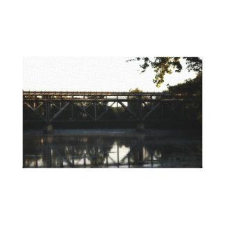 Train tracks over St Joe River Niles Mi Canvas Print