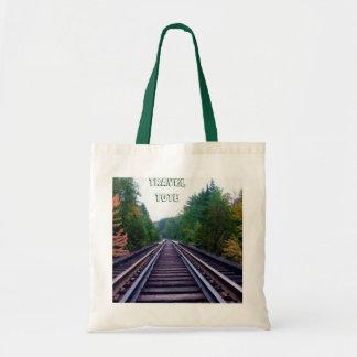 Train Tracks Travel Tote