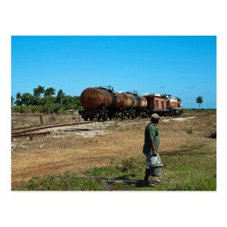 Train transporté diesel de mélasse carte postale