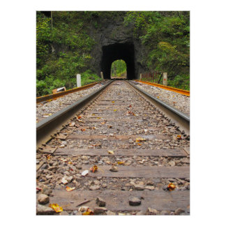 Train Tunnel Poster
