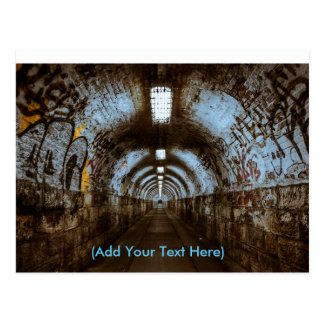 Train Tunnel with Graffiti  Postcard