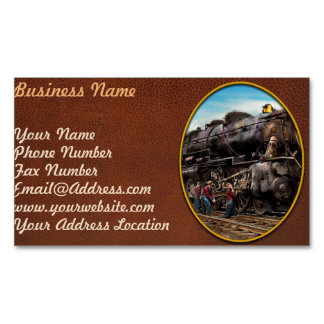 Train - Working on the railroad 1930 Magnetic Business Card