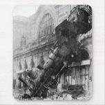 Train Wreck at Montparnasse 1895 Mouse Mat