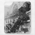 Train Wreck at Montparnasse 1895 Mouse Pad