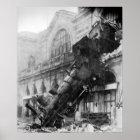 Train Wreck at Montparnasse Station in Paris 1895 Poster