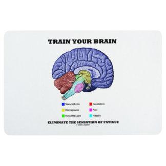 Train Your Brain Eliminate Sensation Of Fatigue Floor Mat