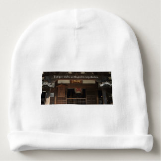 Train your mind to see the good in every situation baby beanie