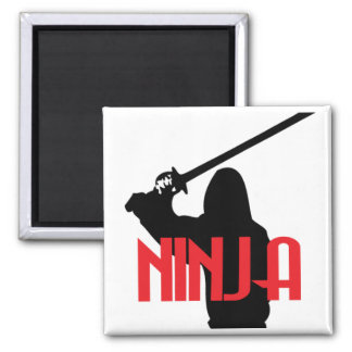Trained Ninja Square Magnet