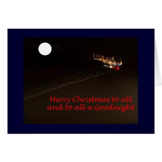 Traînées de lumière de Noël Carte
