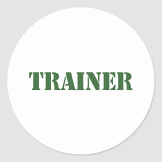Trainer Classic Round Sticker