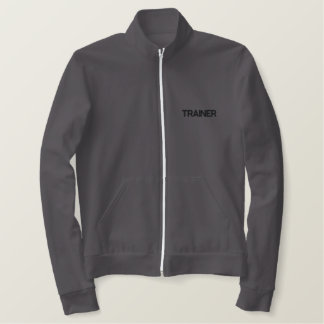 TRAINER EMBROIDERED JACKET