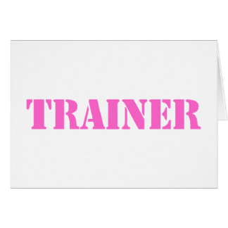 Trainer (pink) card