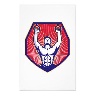 Training Athlete Rings Retro Personalized Stationery