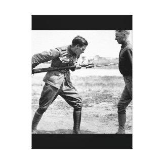 Training Camp Activities.  Bayonet_War Image Canvas Print