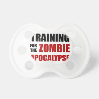 Training For The Zombie Apocalypse Baby Pacifier