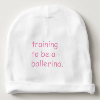 Training to be a ballerina baby beanie