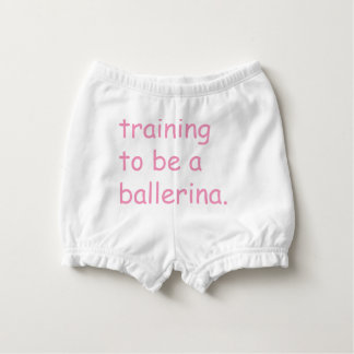 Training to be a ballerina diaper cover
