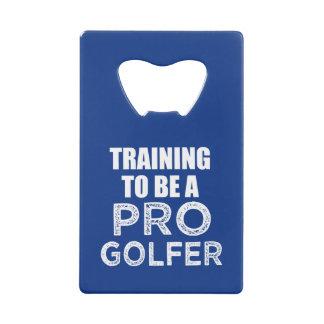 Training to be a Pro Golfer funny bottle opener Wallet Bottle Opener