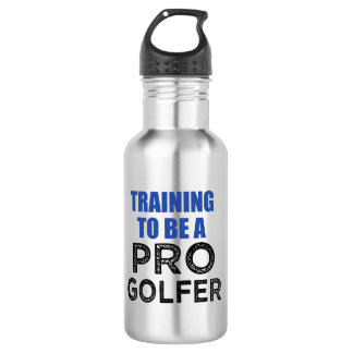 Training to be a Pro Golfer funny water bottle