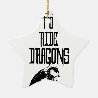 Training To Ride Dragons Ceramic Star Ornament