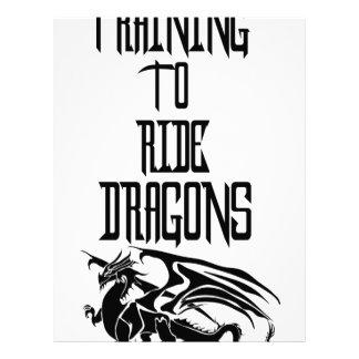 Training To Ride Dragons Letterhead