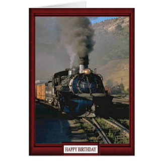 Trains and tracks -Freight train Card